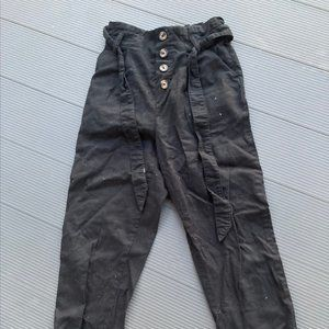 Gently used 100% cotton black pants